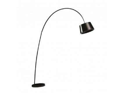 Stojacia lampa, čierna/mramor, CINDA Typ 18 F1090