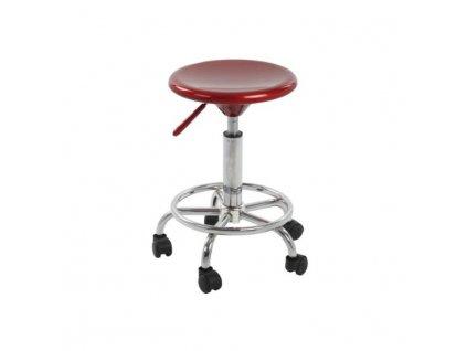 Stolička, červená/chróm, MABEL 2 NEW