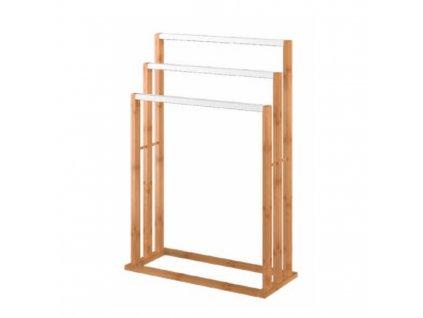 Stojan na uteráky, bambus/biela, KOMO