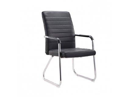 Zasadacia stolička, čierna/chróm, ISLA
