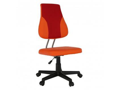 Detská rastúca stolička, oranžová/červená, RANDAL
