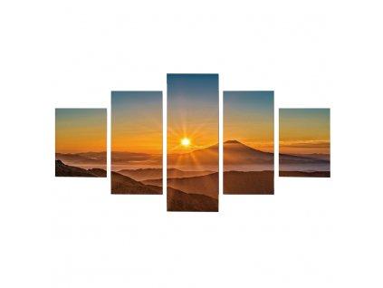 Obraz tlačený na plátno, viacfarebný, DX TYP 6 ZÁPAD SLNKA