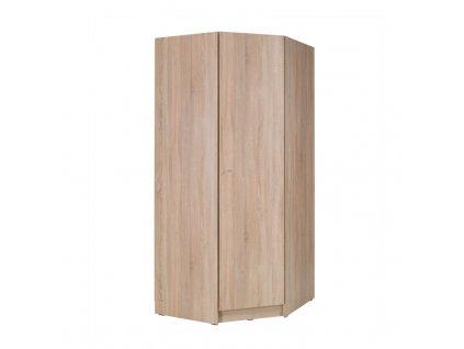 1-dverová rohová skriňa, dub sonoma, MEXIM