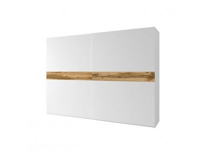 2- dverová skriňa, biela/dub wotan, NAGAMA