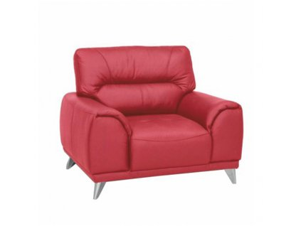 Celokožené kreslo, červená, Melesio