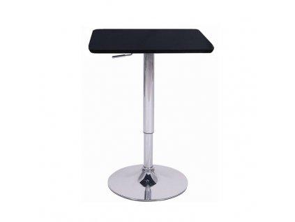 Barový stôl s nastaviteľnou výškou, čierna, 57-78, FLORIAN