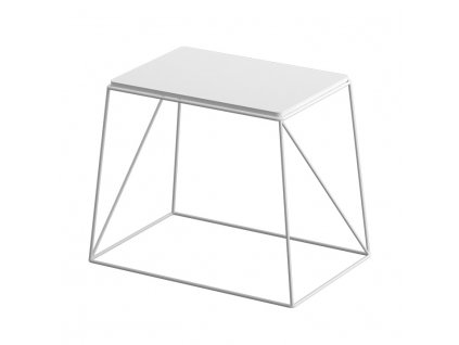 Príručný stolík, biela, KAREL