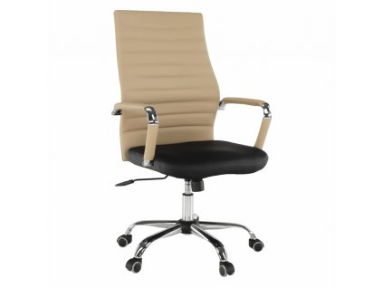 Kancelárke kreslo, béžová/čierna, DRUGI TYP 1