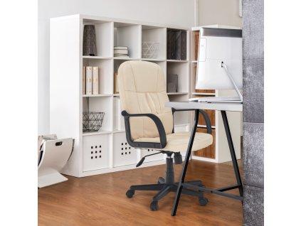 Kancelárske kreslo, béžová, TC3-7741 NEW