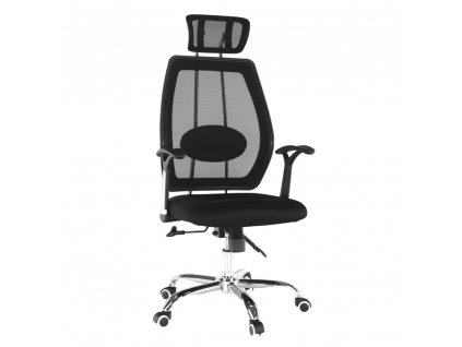 Kancelárske kreslo, čierna/chróm, IZAURA
