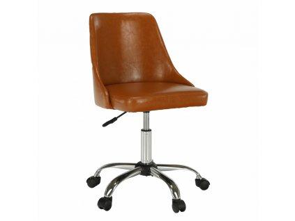 Kancelárska stolička, koňaková/chróm, EDIZ