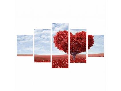 Obraz tlačený na plátno, viacfarebný, DX TYP 25 SRDCE
