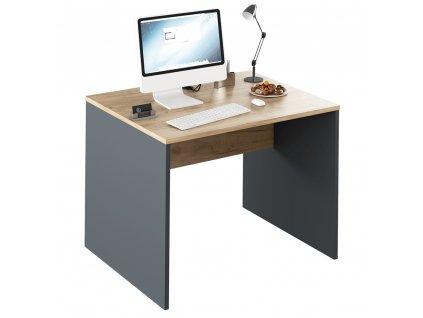 Písací stôl, grafit/dub artisan, RIOMA TYP 12