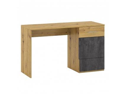 PC stôl P2, dub artisan/sivý betón, ERIDAN