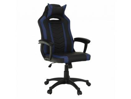 Kancelárske/herné kreslo, čierna/modrá, AGENA