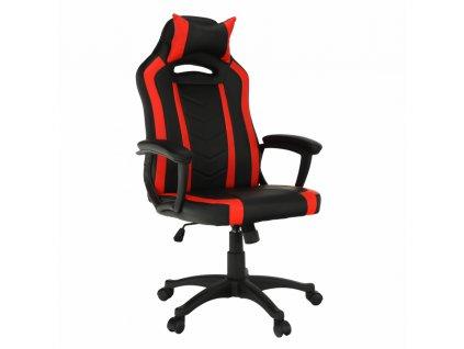 Kancelárske/herné kreslo, čierna/červená, AGENA
