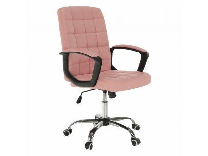 Kancelárske kreslo, ružová ekokoža, RULIS