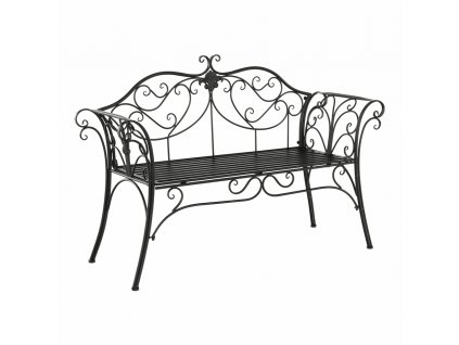 Záhradná lavička, čierna, ETELIA