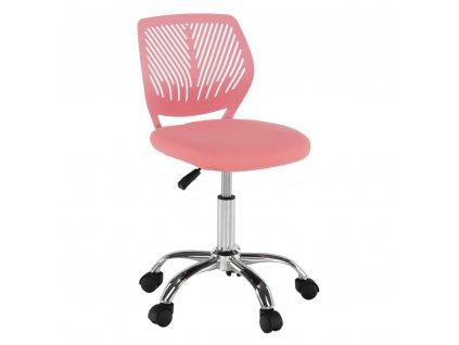 Otočná stolička, ružová/chróm, SELVA