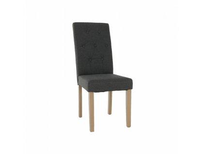 Jedálenská stolička, sivá/svetlý buk, JANIRA NEW