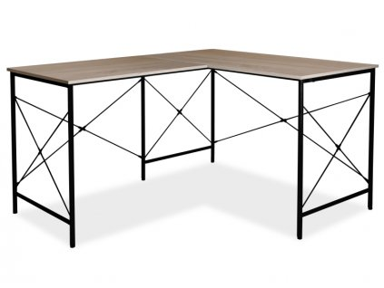 Signal Rohový písací stôl B-182 dub/čierny