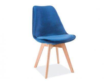 SIGNAL Dior Dub Velvet jedálenská stolička granátová / dub