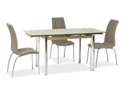 Signal Jedálenský stôl GD-019 rozkladací tm. béžový