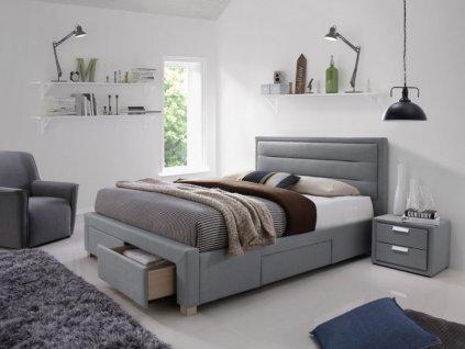 Signal Čalúnená posteľ INES 160x200 šedá