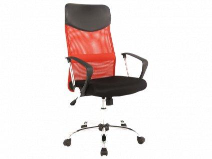 Signal Kancelárska stolička Q-025 červená/čierna