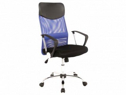 Signal Kancelárska stolička Q-025 modrá/čierna