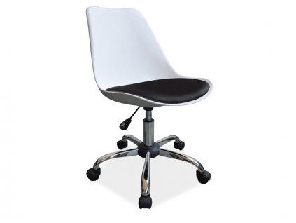 Signal Kancelárska stolička Q-777 biela/čierna