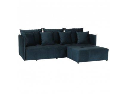 Univerzálna sedacia súprava, parížska modrá, LENY ROH