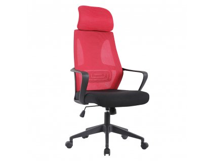 Kancelárske kreslo, malinová/čierna, TAXIS