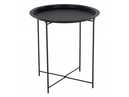 Príručný stolík s odnímateľnou táckou, čierna, RENDER