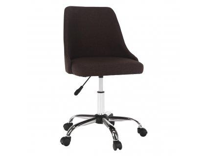 Kancelárska stolička, hnedá/chróm, EDIZ