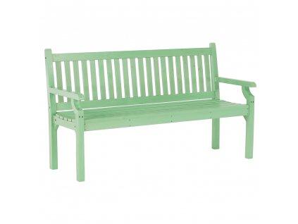 Drevená záhradná lavička, neo mint, 150 cm, KOLNA