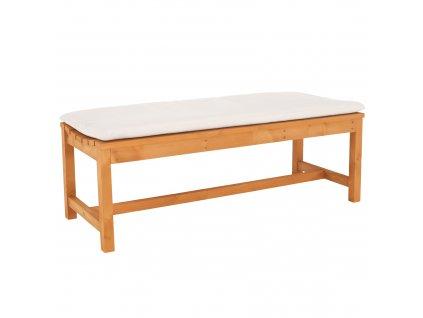 Drevená záhradná lavička, prírodná/béžová, 120 cm, VEATA