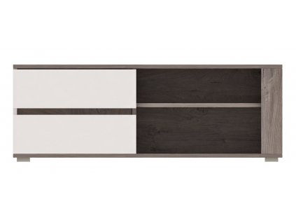 RENAR Ares AS1 tv stolík dub enderein / biely lesk