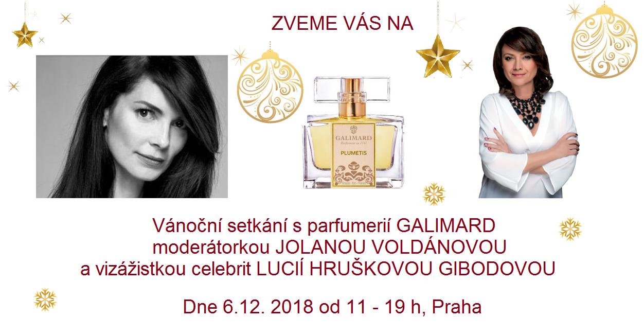 Vánoční setkání s parfumerií GALIMARD, moderátorkou JOLANOU VOLDÁNOVOU a přední českou vizážistkou LUCIÍ HRUŠKOVOU GIBODOVOU.