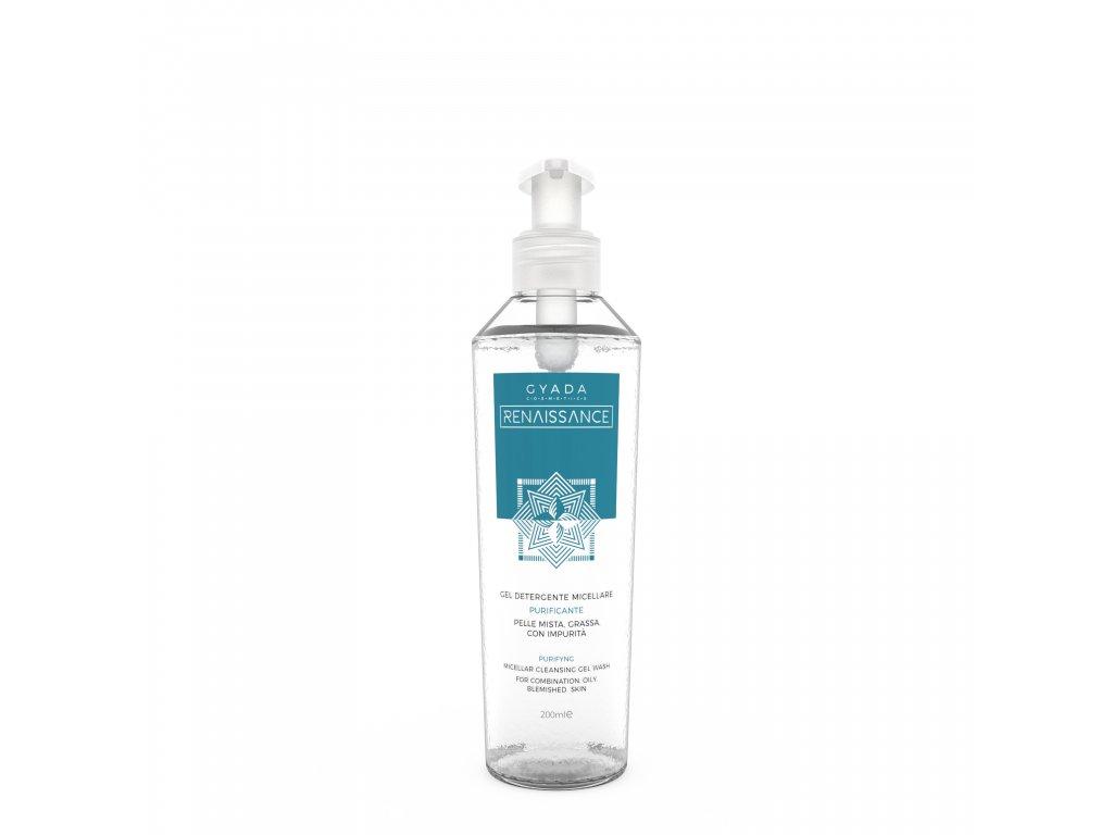 Vegan micelární gel pro smíšenou a mastnou pleť italská kosmetika Gyada Cosmetics testovaná na nikl