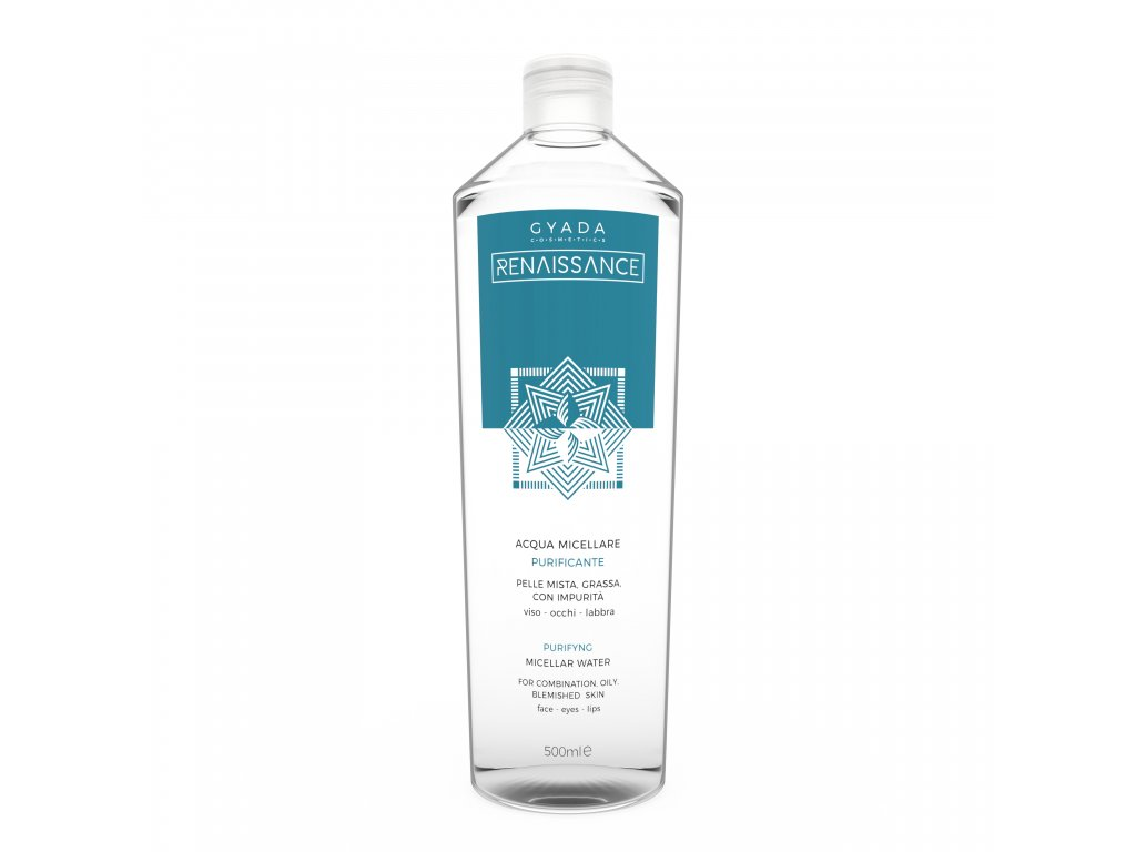 Vegan micelární voda pro smíšenou a mastnou pleť italská kosmetika Gyada Cosmetics testovaná na nikl