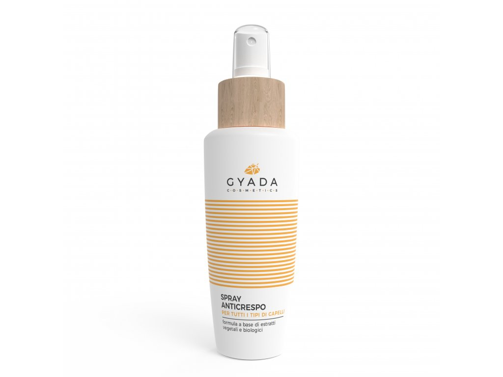 Organický spray na suché a lámavé vlasy, poškozené i kudrnaté. Italská kosmetika Gyada Cosmetics