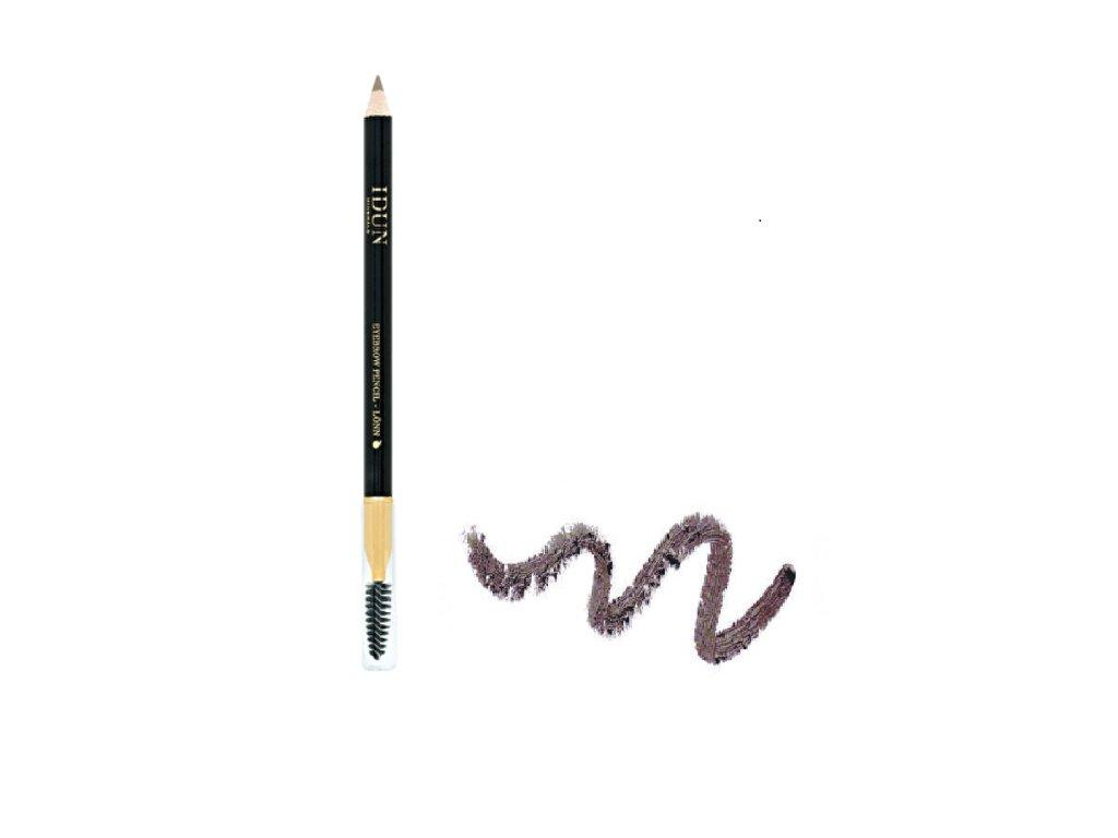 Tužka na oči a obočí se středně hnědým odstínem s minerálními pigmenty vhodná i pro citlivou pokožku Idun Minerals švédská minerální kosmetika 1