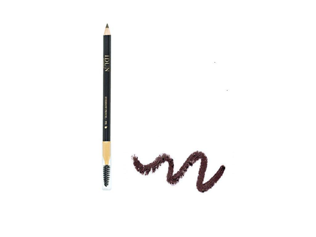 Tužka na obočí a oči s tmavě hnědým odstínem s minerálními pigmenty vhodná i pro citlivou pokožku Idun Minerals švédská minerální kosmetika 1