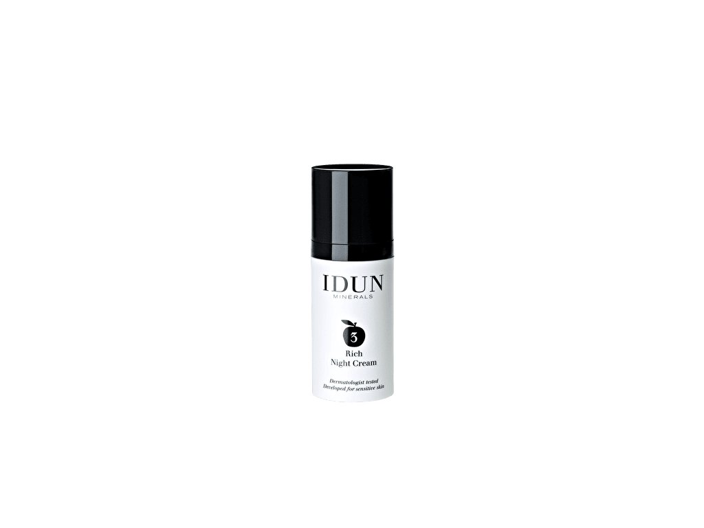Noční krém minerální s bambuckým máslem a oleje ze semen ovsa švédská kosmetika Idun Minerals