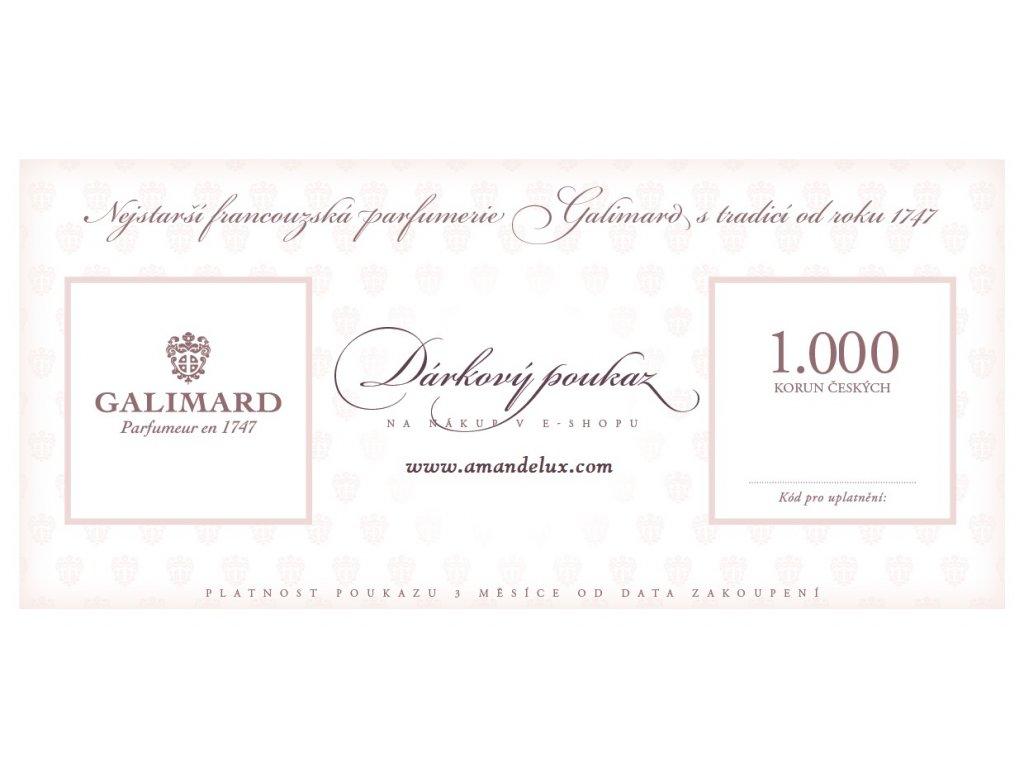 Amande Lux Dárkový poukaz 1.000 Kč originální dárky pro muže dárky pro ženy luxusní dárek nejstarší francouzská parfumerie Galimard
