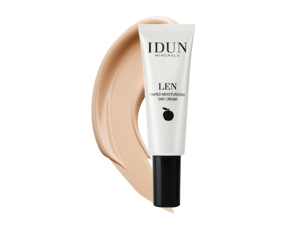 Light Tónovací hydratační krém Len pro citlivou pleť Idun Minerals