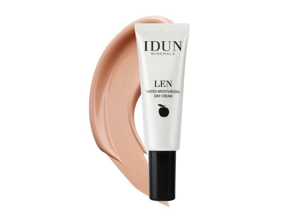Medium Tónovací hydratační krém Len pro citlivou pleť Idun Minerals