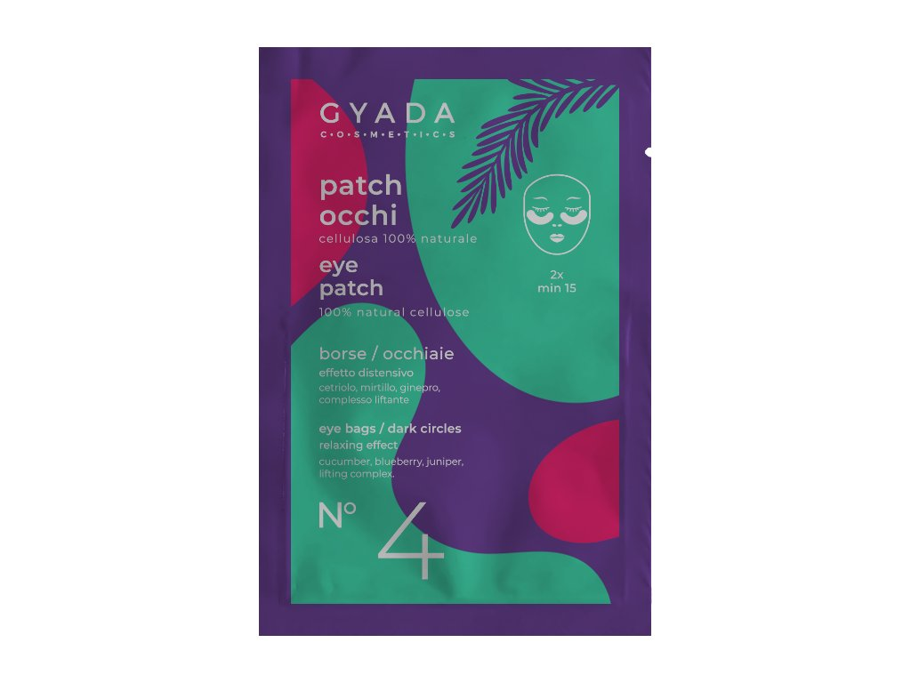Plátýnkové přírodní polštářky na kruhy pod očima Gyada Cosmetics vegan
