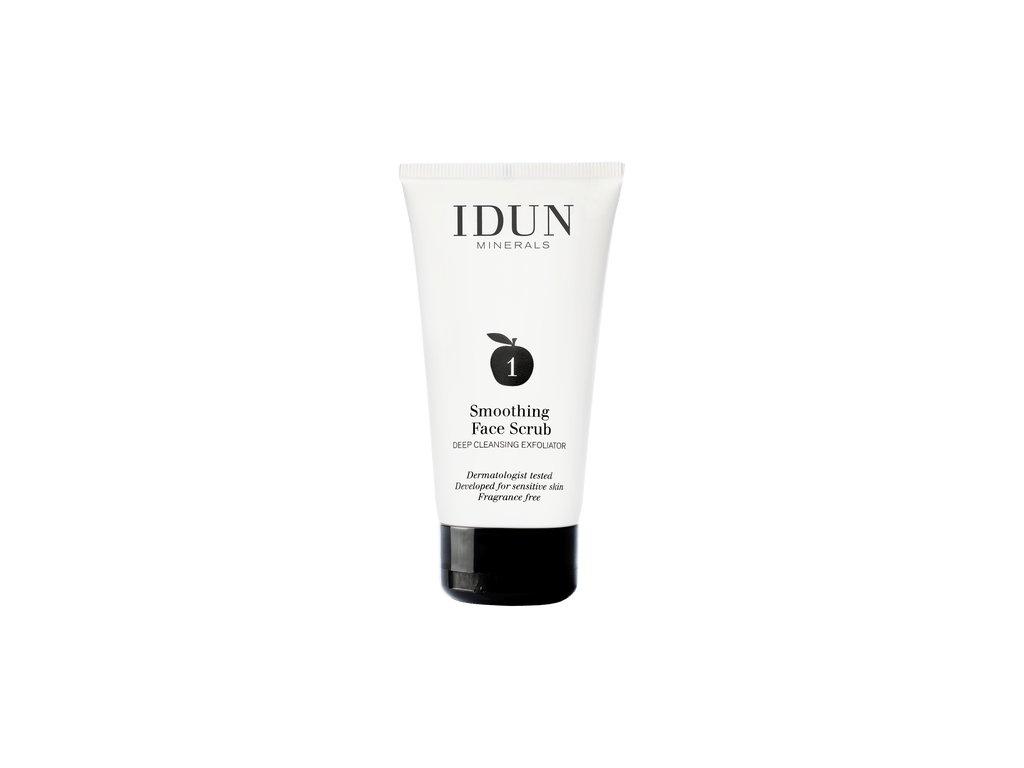 Vyhlazující obličejový peeling i pro citlivou pleť švédská minerální kosmetika Idun Minerals skincare face scrub